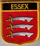 Essex Embroidered Flag Patch, style 07.